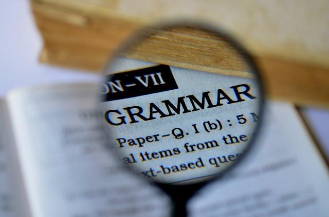英単語「grammar」の写真