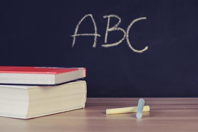 ABCと書かれた黒板