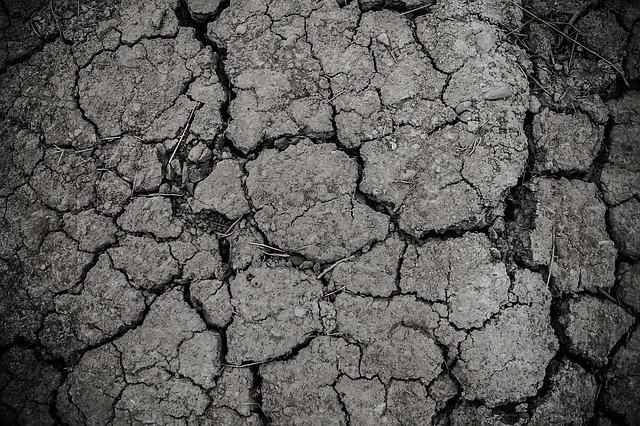 ひび割れた地面の写真
