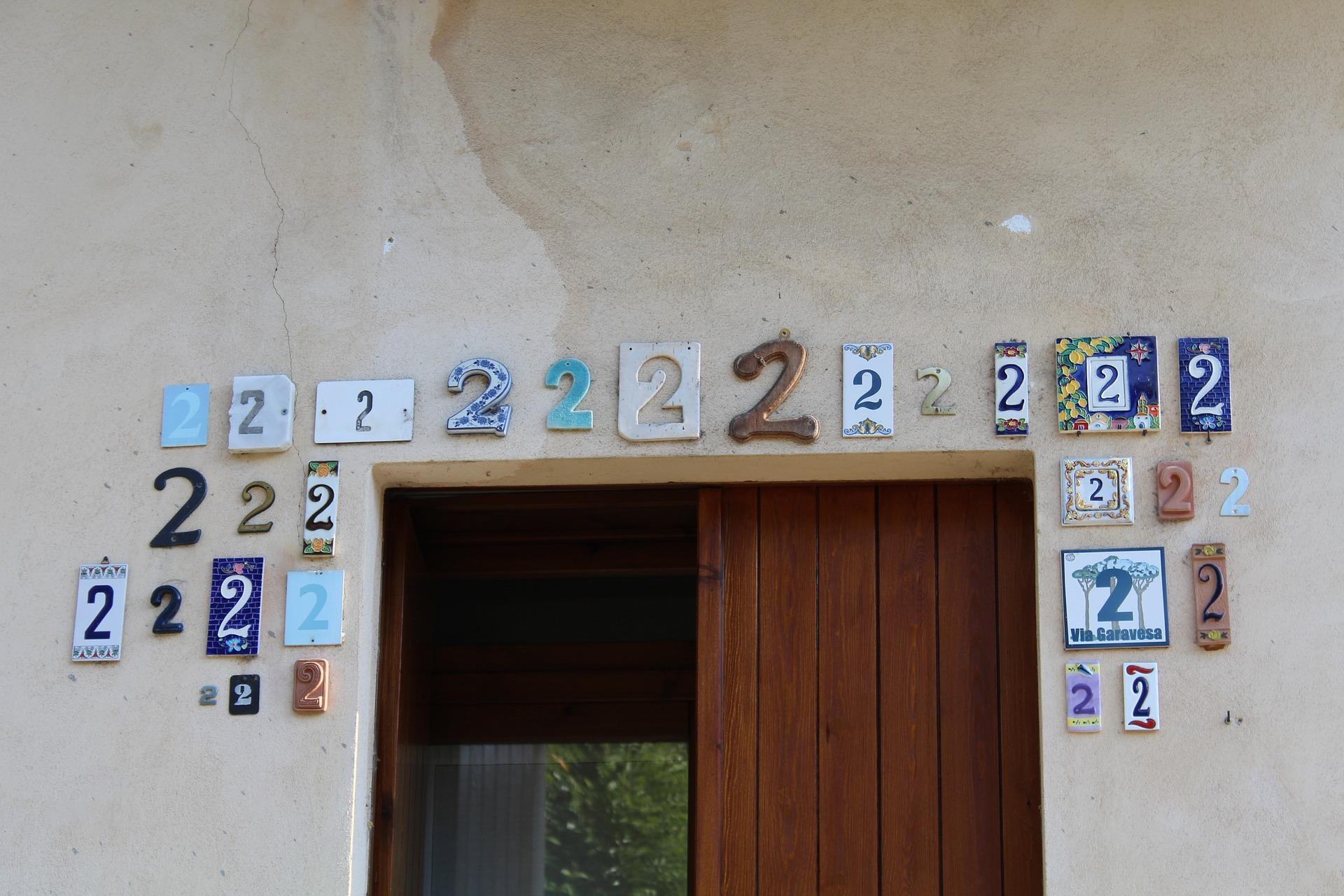 沢山の数字2の写真 Number Twos