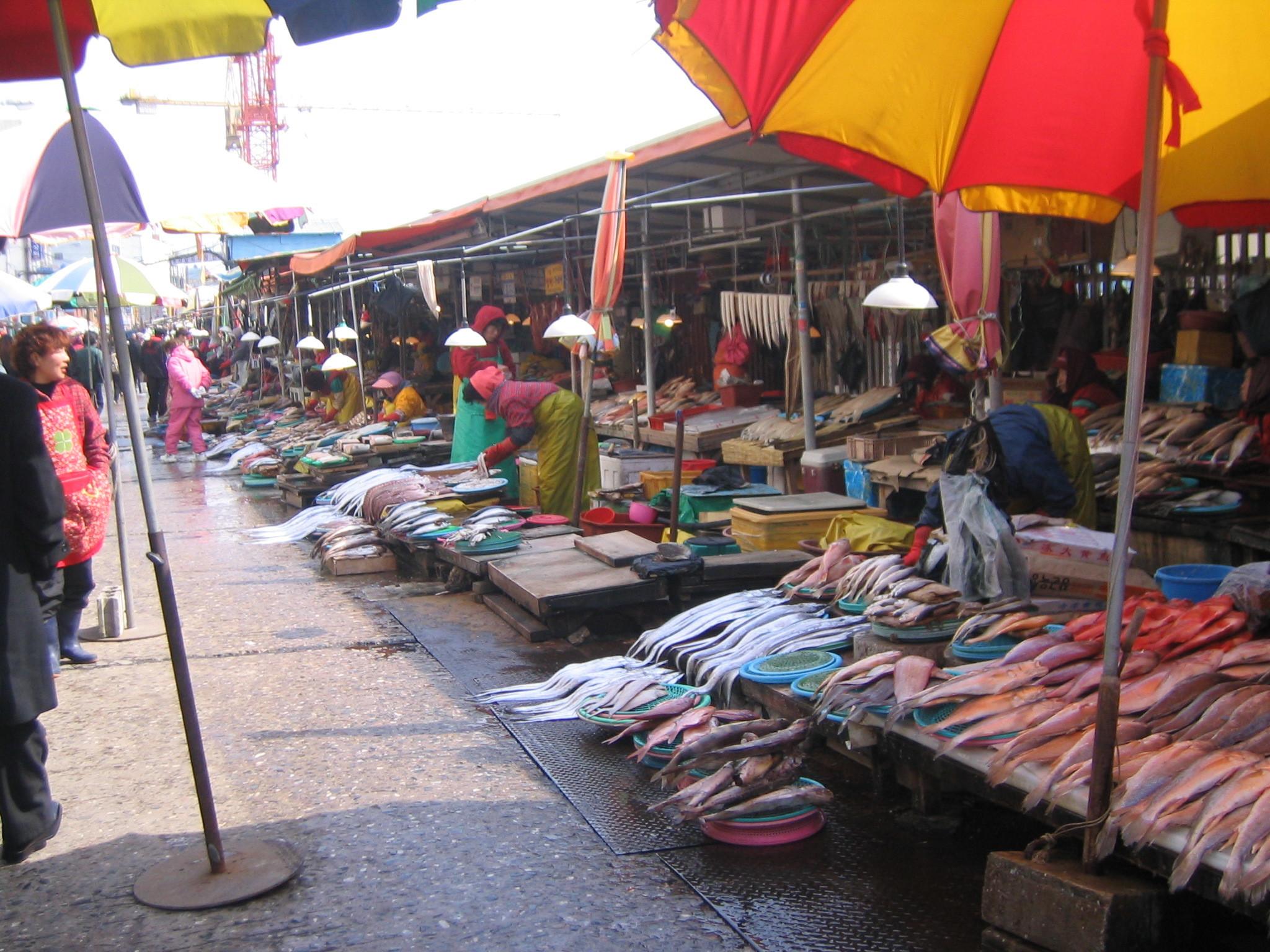 外国の魚市場