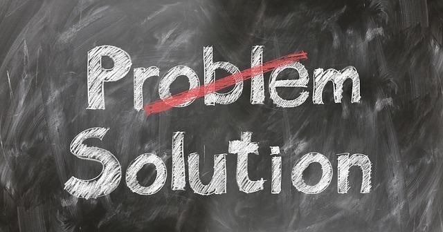 問題解決と書かれた黒板