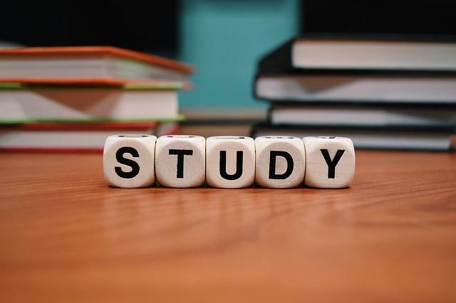 サイコロで「STUDY」を表している画像