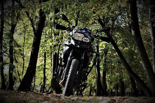 森の中のバイク