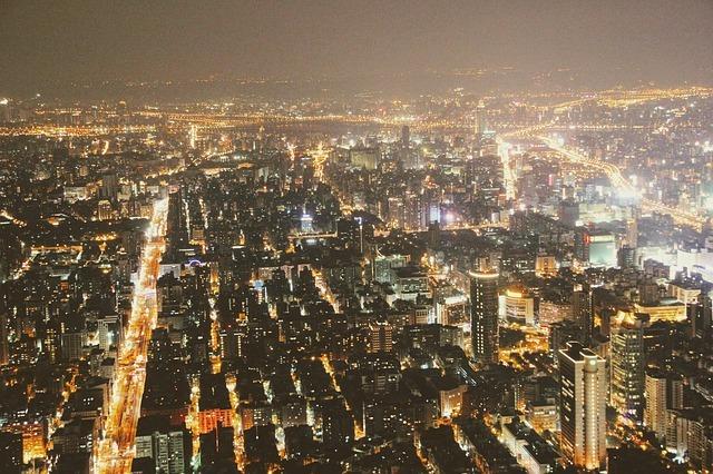 台北101からの夜景