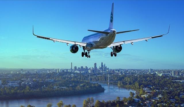 海外旅行のイメージで飛行機