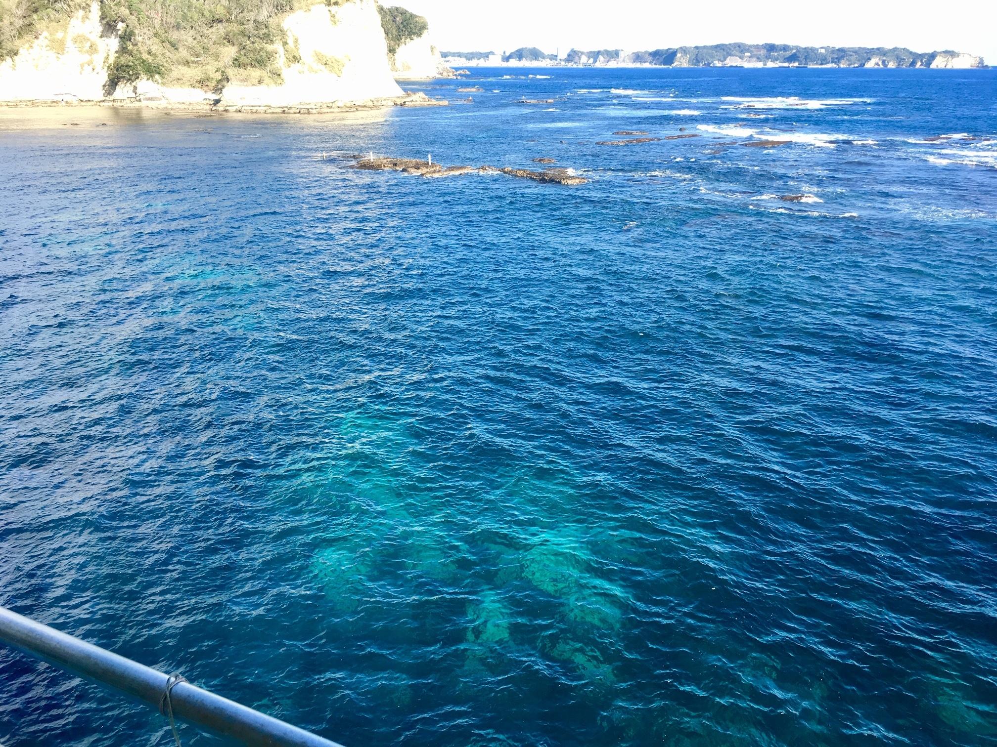 個人撮影:勝浦の海、透明度のわかる写真採用