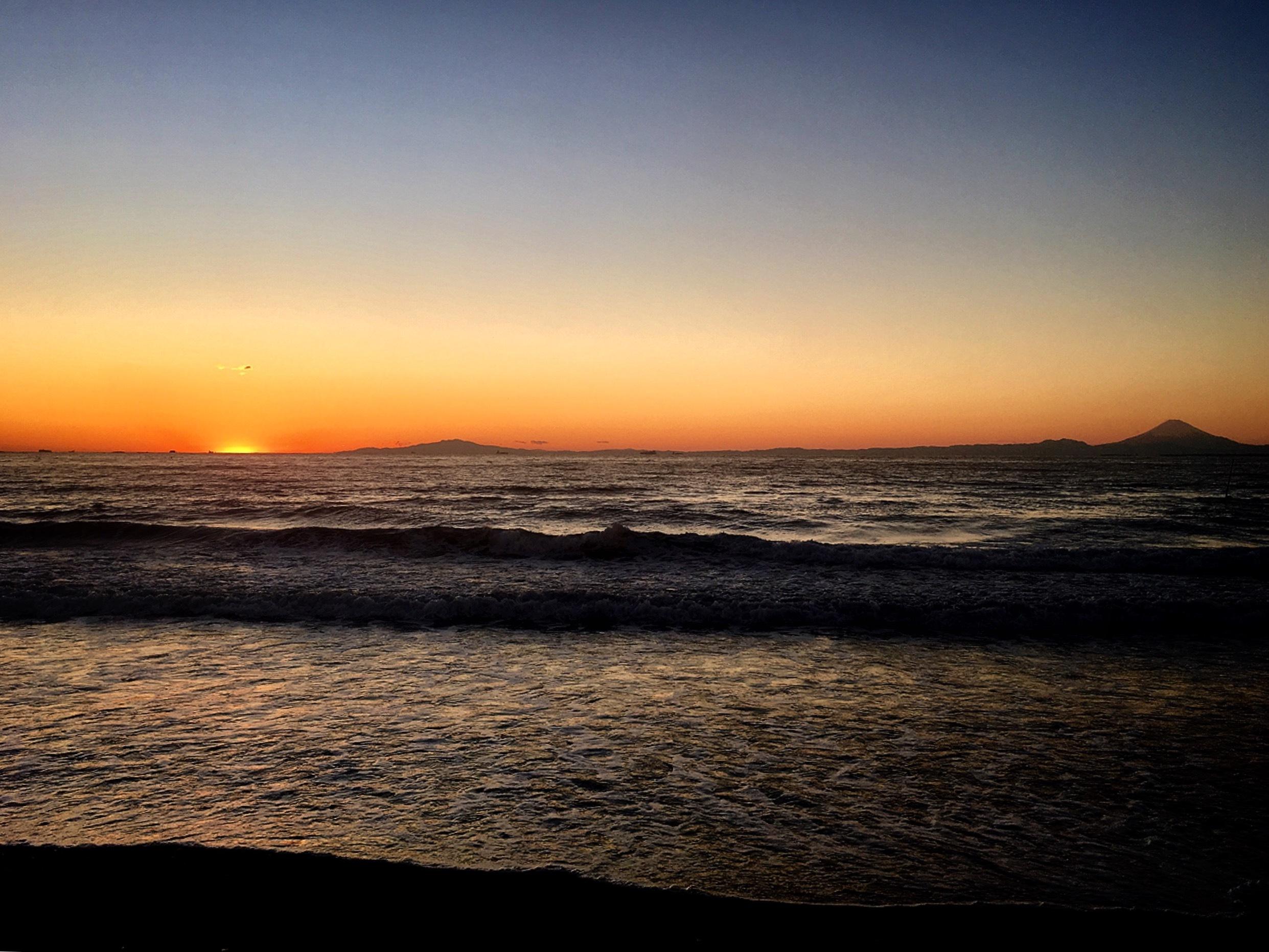 個人撮影:南房総市から見られる夕陽