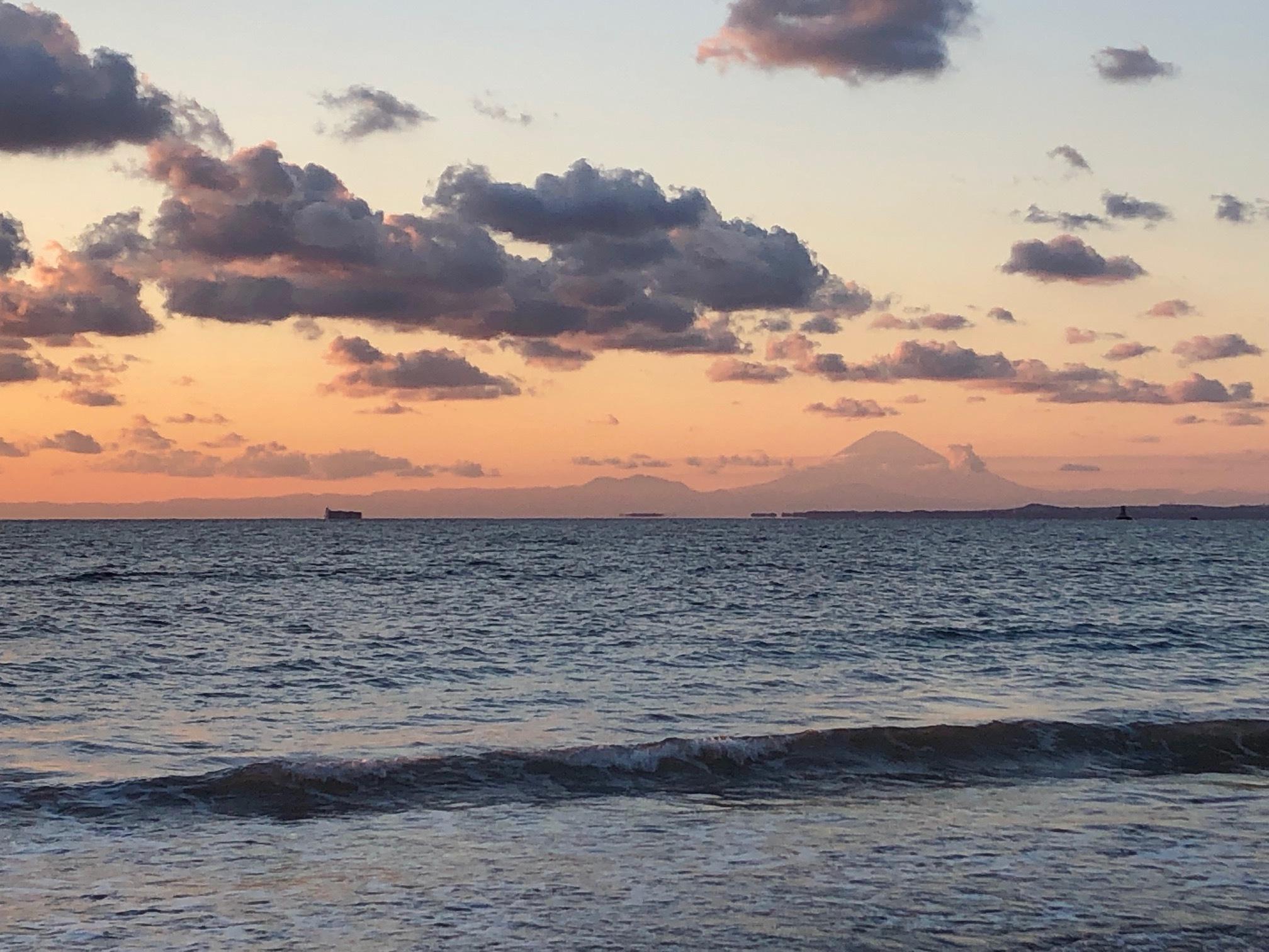 個人撮影:岩井海水浴場からの夕陽