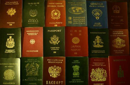 各国のパスポート