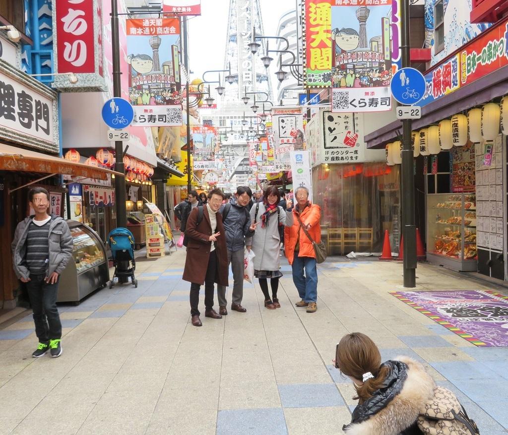 観光客がいっぱい