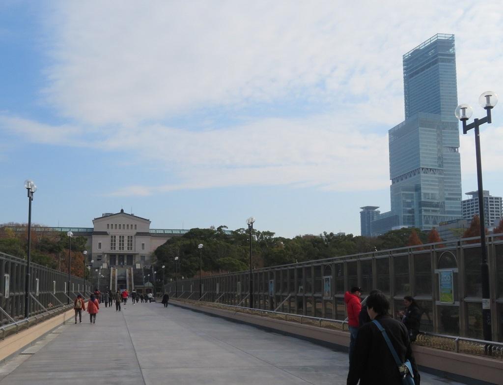 あべのハルカスと大阪市立美術館