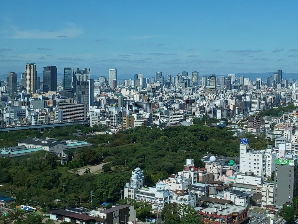 ハルカスから見た大阪の街並み