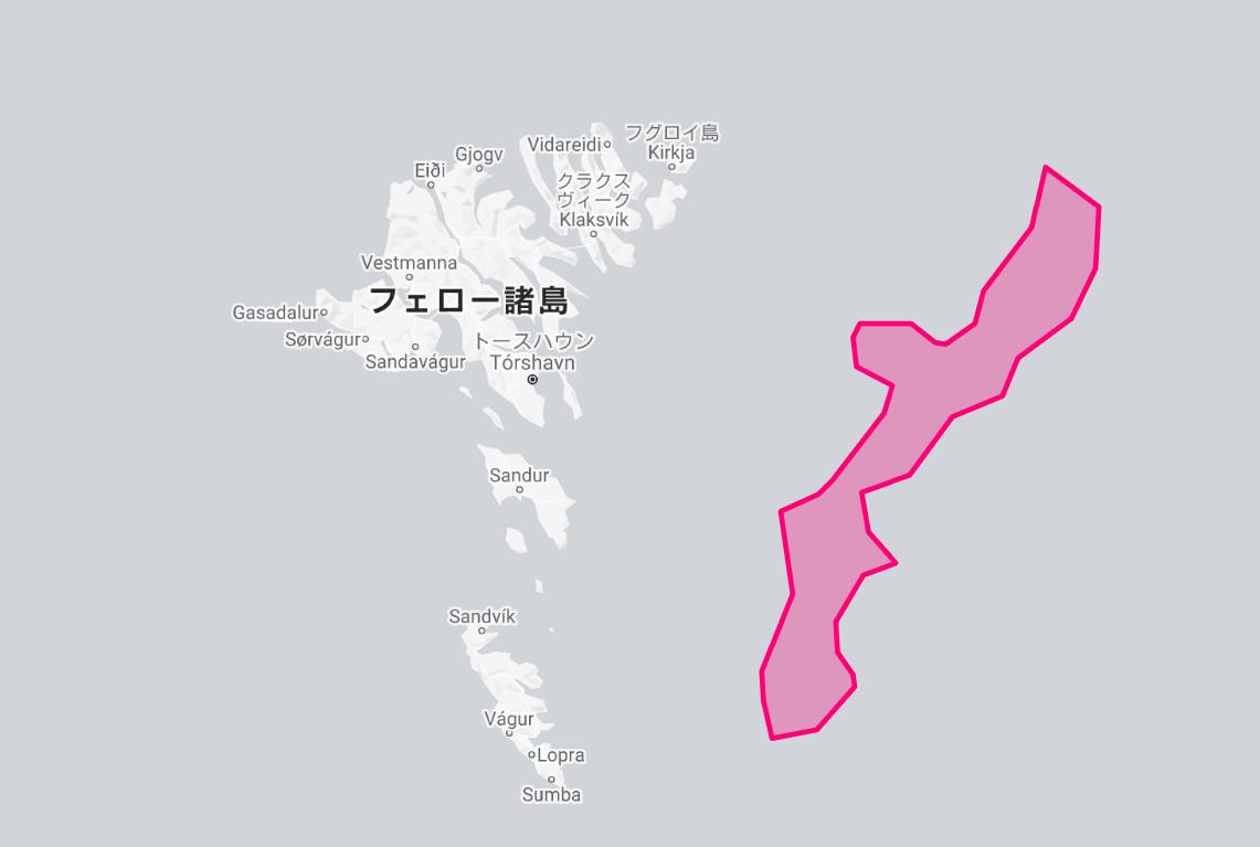 沖縄島とフェロー諸島の比較
