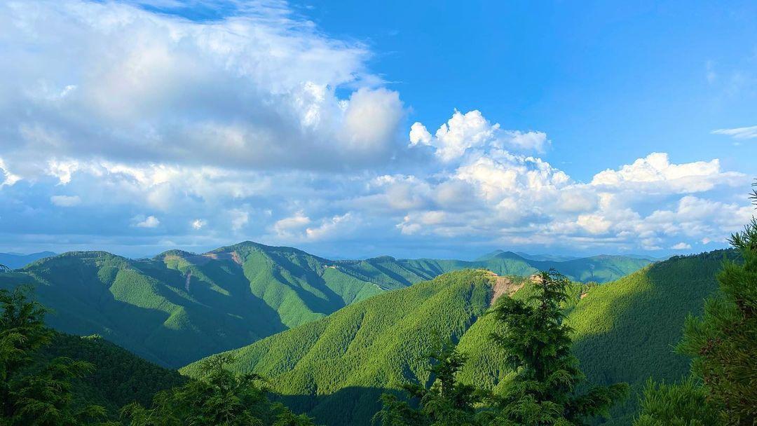 連ねる山々を臨む龍神スカイライン