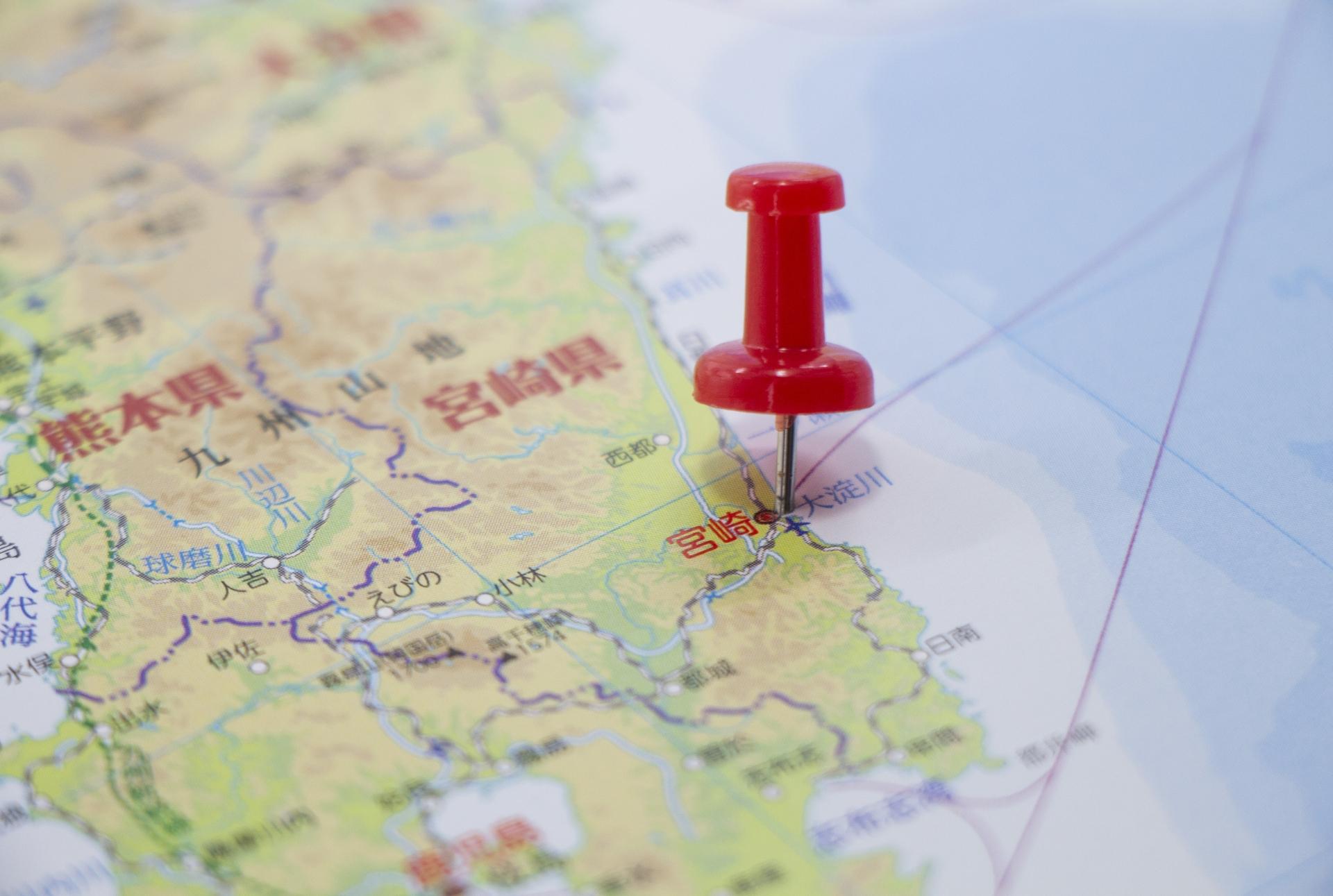 宮崎県の面積は全国何位?県内の市区町村面積ランキングもご紹介!