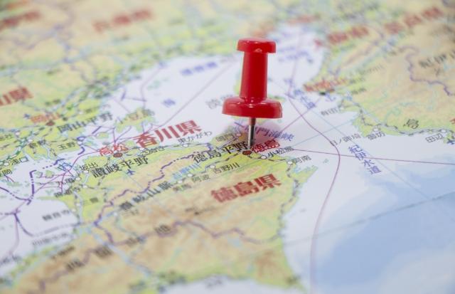 徳島県の大きさはどのくらい?面積・人口・人口密度を比較解説!