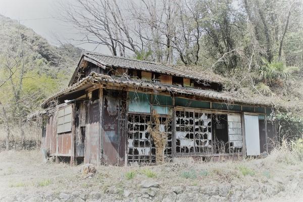 日本家屋の廃墟