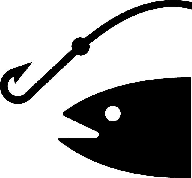 釣り具と魚のイラスト