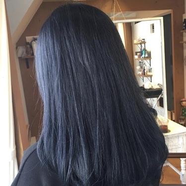 秋冬の髪色はネイビーアッシュでしょ!【色落ちしない】