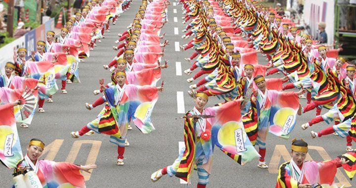 高知よさこい祭り2017は8月開催!見所や駐車場・ホテル・居酒屋情報