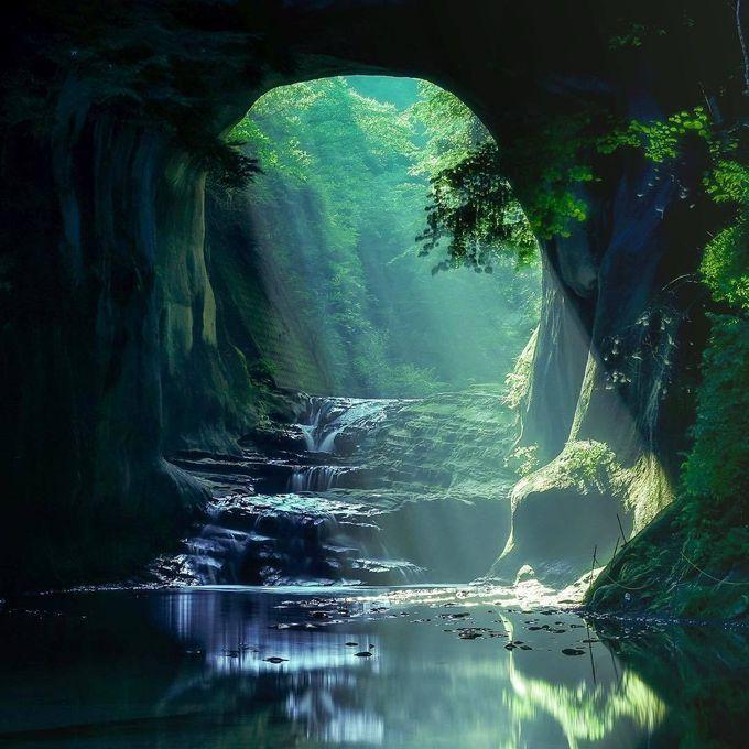 濃溝(のうみぞ)の滝へのアクセスは?ジブリの世界へ!ハート型はいつ現れる?