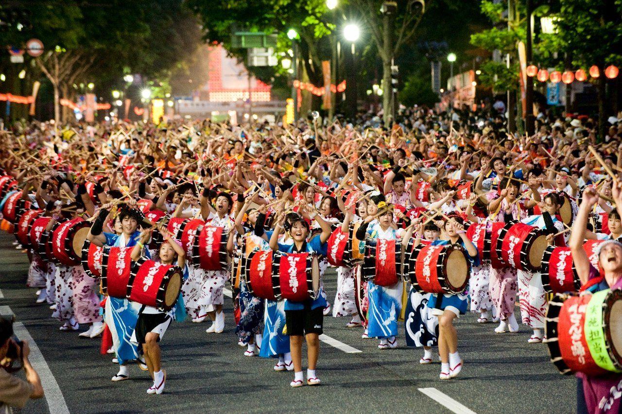 盛岡さんさ踊り2017の日程は?由来や歴史も調査!太鼓と踊りで盛り上がる!