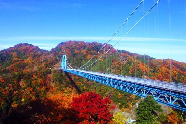 竜神峡にかかる竜神大吊橋がすごい!紅葉の絶景スポットなどを徹底紹介