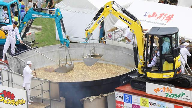 山形日本一芋煮会フェスティバルの会場は?巨大な鍋での調理は見もの!