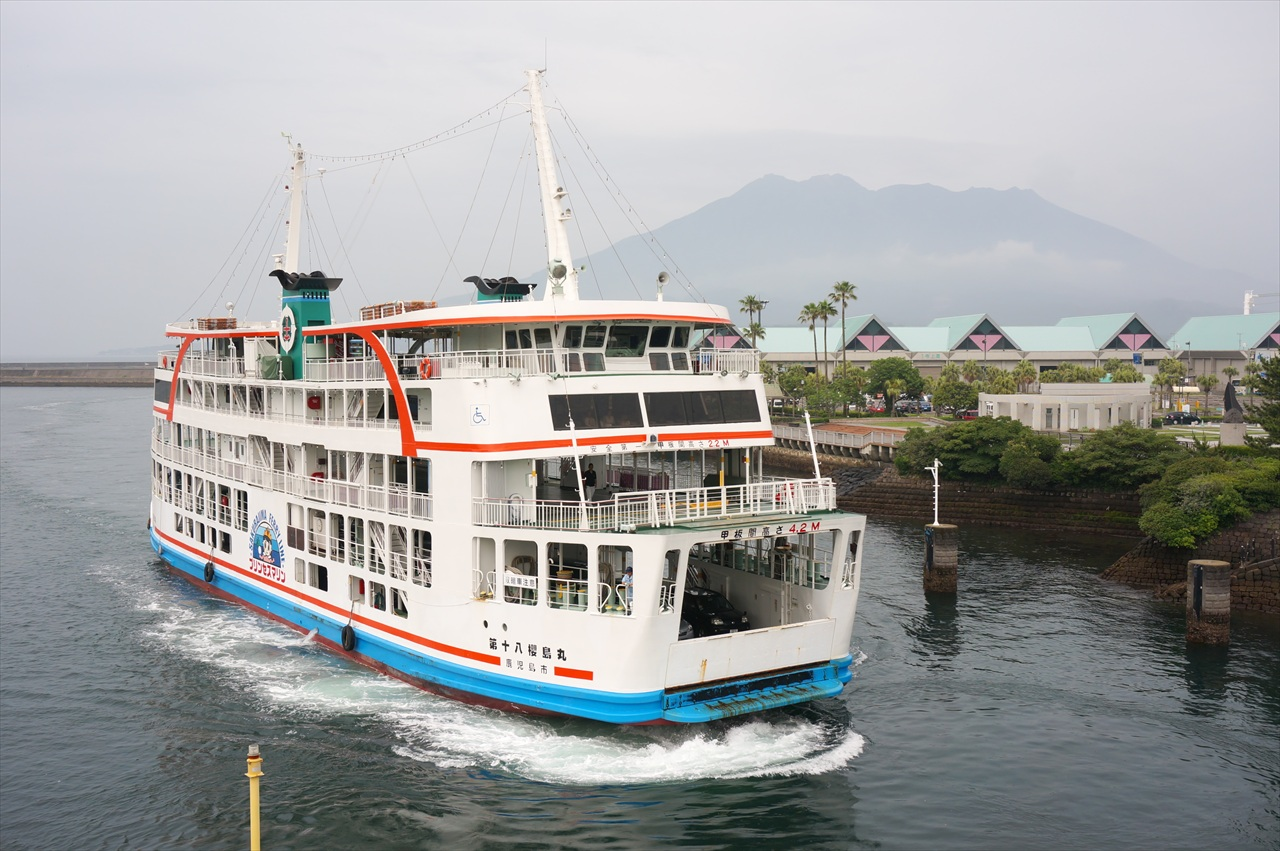 桜島へのフェリー料金は?乗り方や車での乗船方法に割引チケット情報!