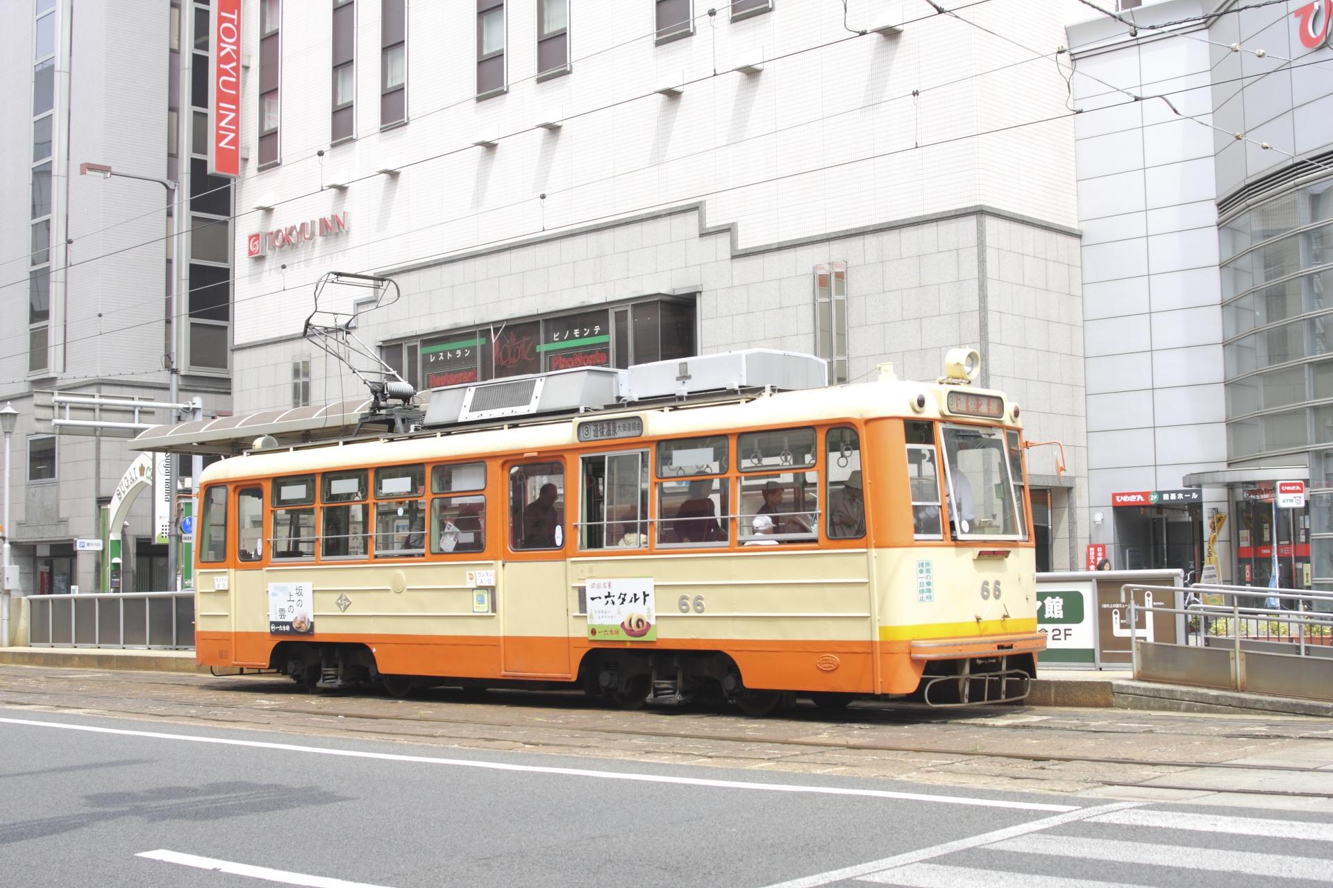 松山で路面電車に乗ろう!料金や乗り方・お得な一日券などを徹底解説!