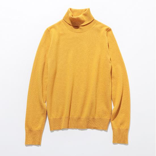 カシミヤタートルネックセーター