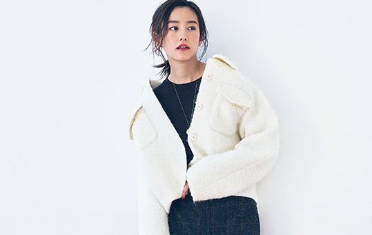【最愛コート】「ショートコート」はタイトスカートで抜け感を