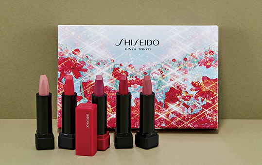 【SHISEIDOのクリスマスコフレ】注目カラーが5色揃ったミニリップのセット