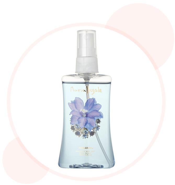ジャスミンと洋梨、すずらんのみずみずしく広がる癒し系の香り。フレグランスボディミスト マリアリゲ100ml ¥1400/フェルナンダ