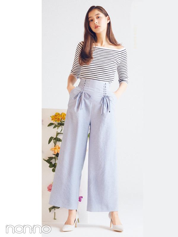 新木優子が着る♡ 春は「ウエスト高めコーデ」で簡単スタイルアップ!