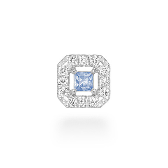 「ティナコフレピアス」※シングルピアス[K18WG×ブルーサファイア×ダイヤモンド]
