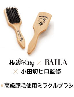 Hello Kitty ×BAILA×小田切ヒロ監修 高級豚毛使用ミラクルブラシ