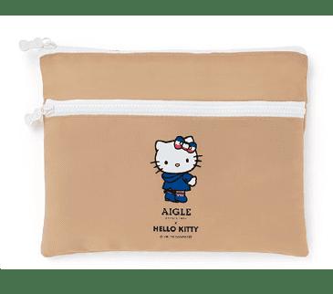 Hello Kitty×LEE×AIGLE リボンの引手つきダブルジップポーチ