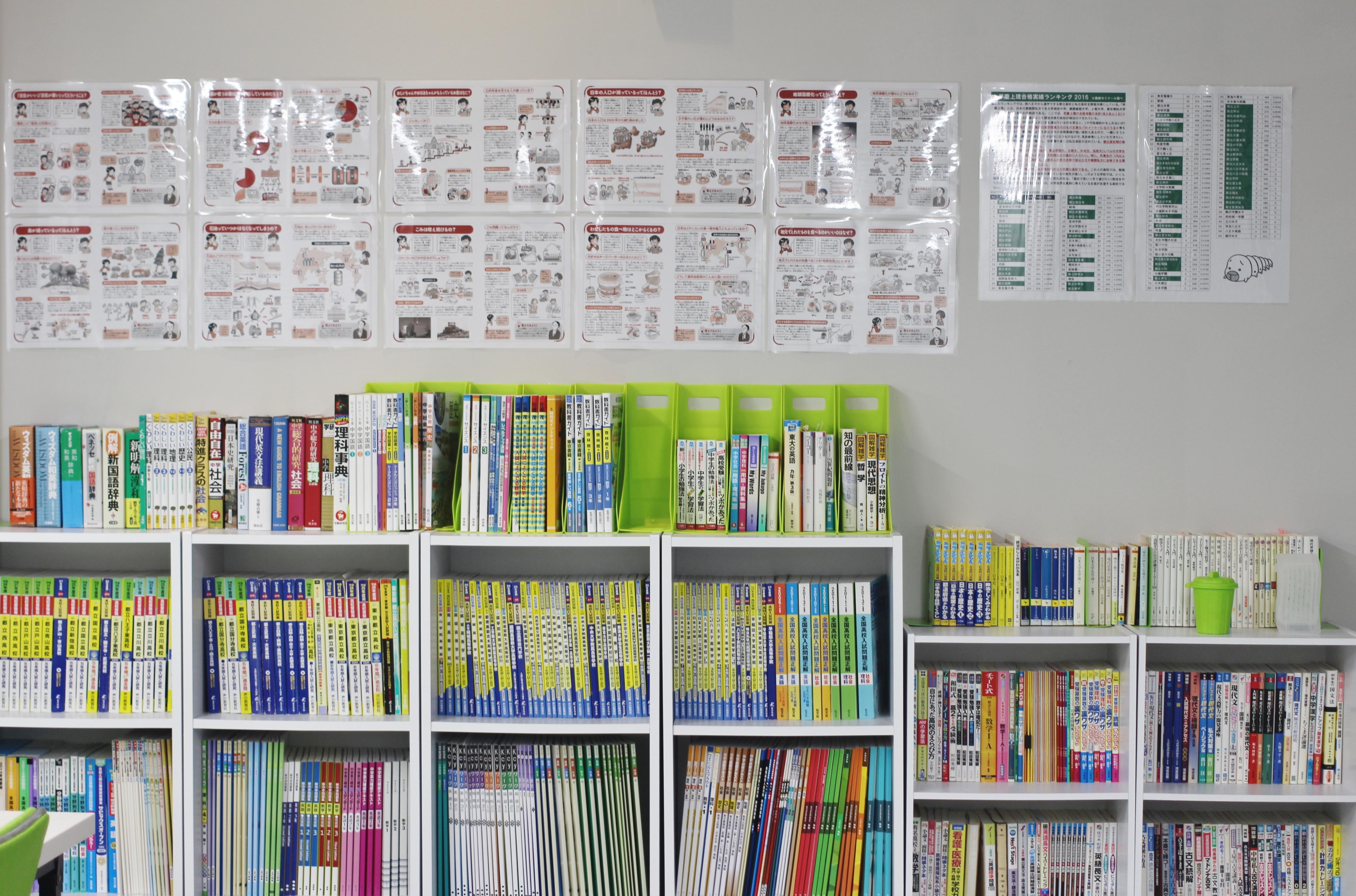 塾生一人ひとりに学校の授業の進捗を確認。それをもとに教材を選び学習を進めます