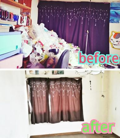 ゴミで溢れていたお部屋が生まれ変わります!