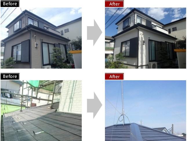 【施工事例】 外壁・屋根塗装 越谷市M様邸