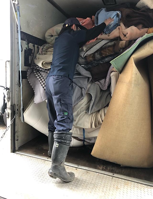 【不用品回収事例】絨毯、カーペット、布団類の回収