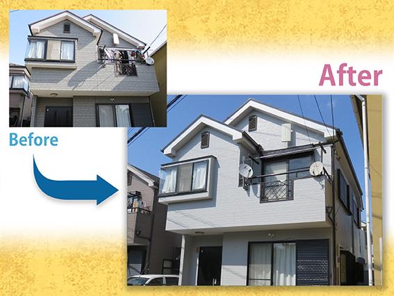 【施工事例】外壁屋根塗装 T様邸 / 川口市