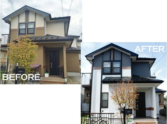施工事例(G邸/酒々井町)外壁屋根塗装