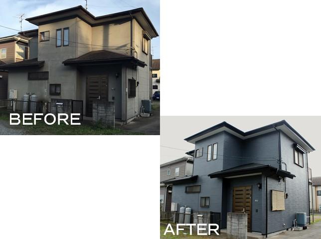 施工事例(F邸/八街市)外壁屋根塗装
