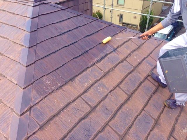 ②屋根シーラー塗布