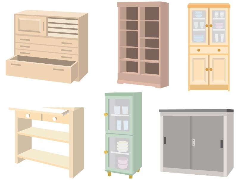 食器棚・タンスの回収処分/買取