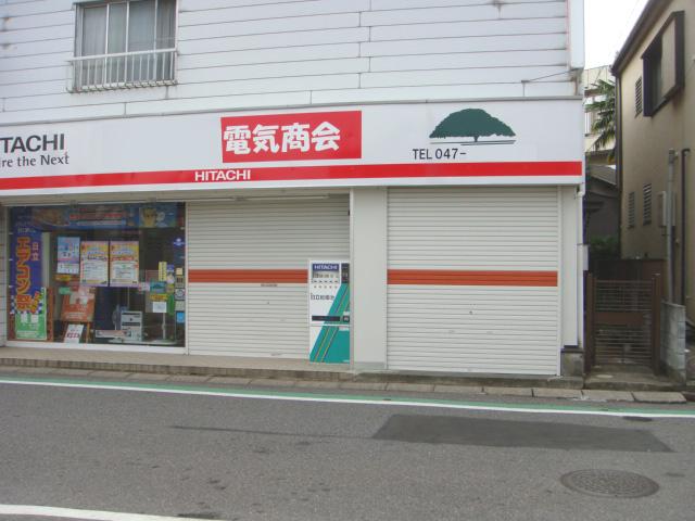 船橋市内の電気店シャッター塗装工事☆