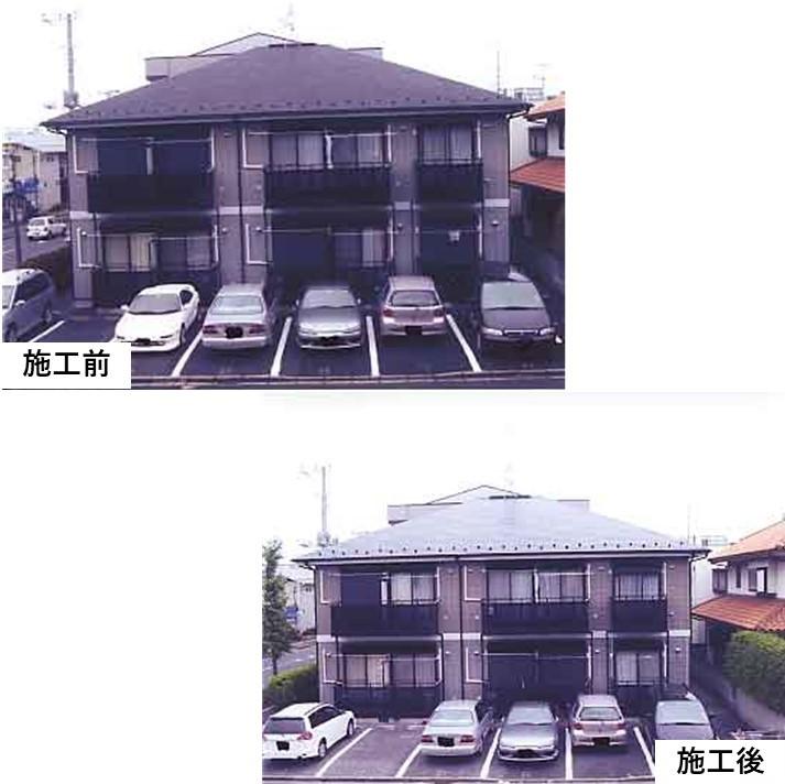 平成15年7月グリーンヒル様施工事例です。外壁の他にも階段等の鉄部塗装も行いました。